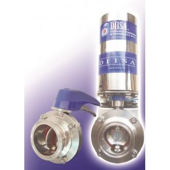 Válvula de Mariposa Automática Sanitaria 1.5